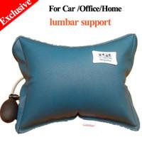 Wholesale Cojin lumbar Exclusive Inflatable Lumbar pillow massager chair cushion Foldable lumbar support