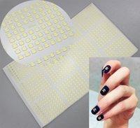 acrylic sheets color - Fingernail D Sticker tips Sheet Nail Decal Gold Color Metal For UV Acrylic Artificial Tips Nails Decorate Design