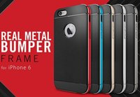 aluminum frame - Aluminum Neo Hybrid Metal PC Bumper Frame TPU Case Cover with Retail Packaging for Inch iPhone G Plus air post with track