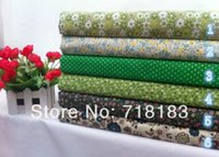 Wholesale New x50cm Mixed Green Series Floral Patchwork Cotton Fabric Home Textile Cloth Group for Sewing Tilda Cloth Crafts