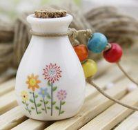 car perfume bottle - Car hang decoration Ceramic essence oil Perfume bottle Hang rope empty drift bottle