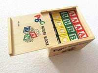 abc building - Baby Toys ABC Wooden Blocks Baby Educational Early Learning Toys Alphabet Building Blocks Christmas Gift