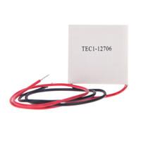 achat en gros de peltier dissipateur de chaleur-12V 4.5A refroidisseur thermoélectrique Peltier Semiconductor Réfrigération Cooler Heat Sink 4 * 4 * 0.4cm 50-60W H12119