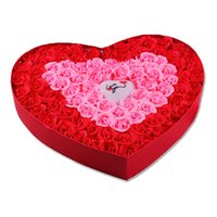 Wholesale 2015 Sale Special Offer Jabones Black Soap Romantic Heart shaped Gift With Light Rose Flower Soap
