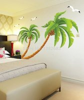 beach house bedroom decor - XXL Size Beach Tall Palms Coconut Tree Waterproof DIY Removable Wall Stickers Parlor Kids Bedroom Home Decor House