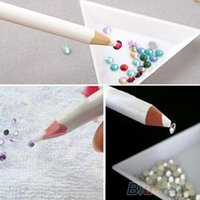 Cheap Wholesale-10Pcs Nail Art Pen Rhinestones Gems Picking Tools Pencil Dotting Tool Painting Art Pen Remover Nail tools