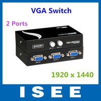 Wholesale Thanksgiving New Metal Maxtor Port Vga Switch Remote Switch in Vga Sharer