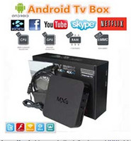 Wholesale Original MXQ TV BOX Kodi MXQ Amlogic S805 Quad Core Android Airplay TV Channels Programs Media Player Google Play Store Rooted