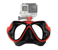Wholesale New Adult Underwater Diving Mask for Scuba Swimming Snorkeling Face mask Gopro Hero Session SJ4000 Xiaomi Yi Camera