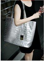 Wholesale High Quality Women Leather Handbags Bolsa Shoulder Bags Crocodile Tote Bags For Women Metallic Color Composite Messenger Bags Blosas