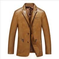 Wholesale Fall New Brand Autumn Winter Leather Jacket Men Solid veste cuir homme Man Leather Jacket jaqueta de couro PU Leather Coat