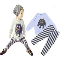 wholesale sports jackets - Baby Boys Girls Cartoon Bowtie Bear Sets Children Printed Outfits NWT Summer Suitst Top Tshirt Sport Boutique Pajamas Clothes DG16 b10