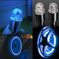 Wholesale 1 Pair LED Car Wheel Alarm Wheel Lights Spoke Valve Cap High Quality Alarm Wheel Lights