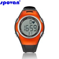 heart rate monitor watch - NEW brand Spovan running watch pedometer with calorie counter heart rate monitor countdown digital women sport watches SP12