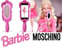 Cheap Magic Mirror 3D Moschino Barbie Girl Beautiful Doll pink Soft silicone GEL case Cover with Retail Package for iphone 6 4.7 inch Case 5S 4S