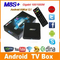 Wholesale M8S Plus M8s Amlogic S812 Quad Core Android TV Box XBMC Android G G G G WiFi H DLNA Miracast TV MS