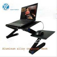 Cheap Wholesale-Aluminum alloy laptop computer desk & Folding bed & Laptop & Lazy little book table table & Fan radiator &