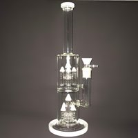 arrow white - New Arrival Glass Bong With Double White Glass Arrow Filter Oil Rig Bongs Water Pipe Hookah