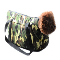 Wholesale 9Popular Sale Puppy Dog Bag Portable Outdoor Travel Carrying Bag For Dogs and Cats Camouflage Breathable Pet Carrier HB0026 kevinstyle