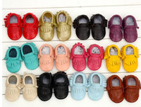 babies and childrens shoes - 2014 New Hot baby soft leather shoes baby boys and girls frings soft comfortable Prewalker hot sell sweet childrens shoes Lz0001