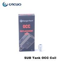 100% cotton suit - 100 Kanger Subtank OCC Coils Replacement Coils Head ohm Organic Cotton Coils Suit for Kangertech Mini Subtank Sub Tank Nano Atomizer