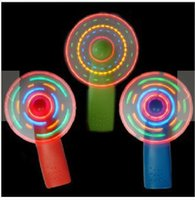 Wholesale Colorful flashing portable fan to spread the hot summer essential creative gifts toys mini fan