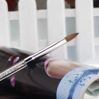 Cheap Crystal Nail Art Pen Nail Art Brush Acrylic Nail Pen Painting Brush UV Gel Brush Manicure Design Painting Drawing