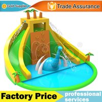backyard playground slides - YARD gaint backyard home use inflatable water slide water park game toys playground bounce house with blower