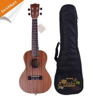 Wholesale KAKA Mini Ukulele Hawaii Guitar Whole Sapele Concert Ukelele Hawaii guitarra fret inch w bag