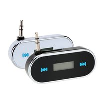 Wholesale Portable Mini Wireless mm Car Audio Radio LED Dispaly FM Transmitter Modulator Adapter for iPhone iPad iPod Samsung V1351