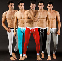 Wholesale Hot Sale WJ Men s Sexy smooth Thermal Underwear Long John Pants legging colors for choice Fabric Modal