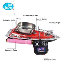 Wholesale F100 High Speed Mini RC Boat Remote Control Fishing Bait Boat Finder Thrower h Fish Finder rc boat for fishing