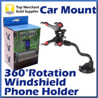 arm pack - For iPhone s Double Clip Car Mount Easy To Use Universal Long Arm neck Rotation Windshield Phone Holder for Cell Phones Retail Pack