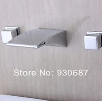 Wholesale Modern Chrome Finish Widespread Waterfall Bathroom Tub Faucet Celling Mounted Mixer Tap