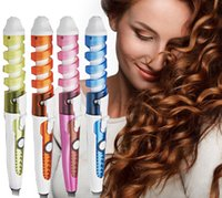 Wholesale V V Electric Hair Styling Tool Automatic Anti Scald Hair Curler Tourmalin Ceramic Spiral Curling Iron
