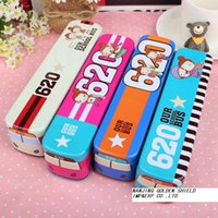 best korean cars - korean stationery Three layers bus little car metal pencil case kids best love interesting and lovely
