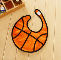 Wholesale bibs baby Sale Baby Sport Bibs Baby boy Bibs Infant gift Orange basketball birthday bib newborn accessory