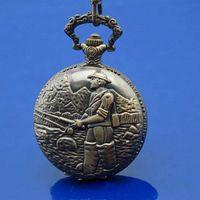Wholesale Classical Fisher Man Necklace Quartz Pocket Watch Lady Men Gift
