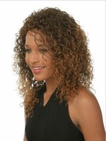 Wholesale Top Quality Synthetic Short Wig With Dark Brown Tight Curly Hair for African American Women