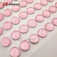 Wholesale New Design10mm High quality Pink Stick On Rhinestones Gems Self Adhesive Diamantes DIY Accessory