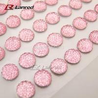 adhesive diamantes - New Design10mm High quality Pink Stick On Rhinestones Gems Self Adhesive Diamantes DIY Accessory
