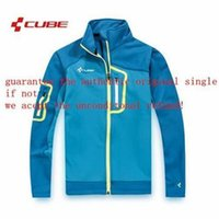 Wholesale CUBE men s cycling jersey jacket in winter autumn with long sleeve cycling bike top of breathable anti UV bicycle wear clothing