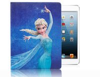 anna smart - HOT Cartoon Movie Elsa Anna Olaf Sven Smart Leather Case Cover With Stand Holder For iPad case Air Mini Mini2 Auto Sleep Awake pc