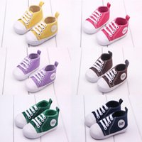 Wholesale BABY soft bottom canvas Casual First Walker Shoes infant toddler shoes colors