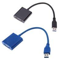 Wholesale USB to VGA Multi display Adapter Converter External Video Graphic Card USB to VGA Converter USB display adapter