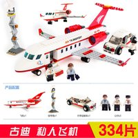 Wholesale New Music New Goody GUDI blocks Aerospace Series private jets children s educational toys fight inserted