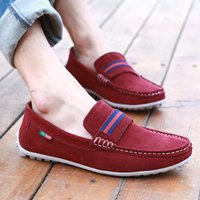 belt shoes - Mens Doug Shoes Comfortable Breathable Suede Leather Men Shoes Casual Fashion Woven Belt Exquisite Pure Manual Suture Man Loafers Retail H61