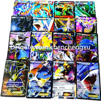 rep - NEW Brilliant FLASH cards POKE EX Trading English Anime Poke toys Classic High Quality GIFT box Does not rep pokmon Card Game