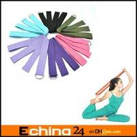 Cheap Yoga Stretch Strap 183*3.8cm D-Ring Belt Figure Waist Leg Fitness Exercise Gym