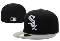 fitted hats - MLB White Sox Embroidery Letter Fitted Hat Men Women Structured Fit Classic Sport Baseball Cap